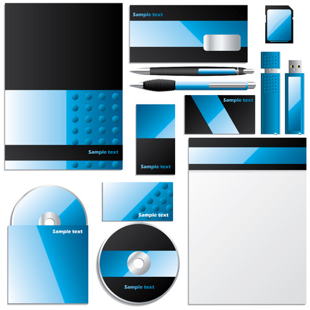 Editable business design set Vector