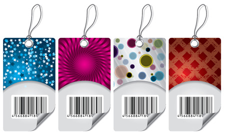 Various labels with bar-code Vector