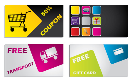 discount card: Discount card design set