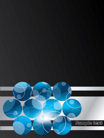 Dotted blue mesh brochure design Stock Vector - 8723789