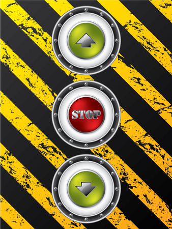 Construction site elevator buttons Stock Vector - 8723790