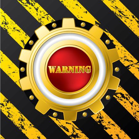 Industrial warning button design Stock Vector - 8723791
