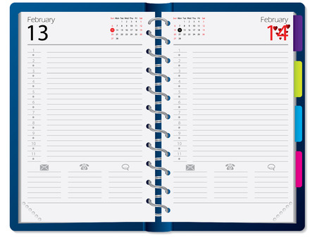 tabbed folder: Notebook design with calendar Illustration