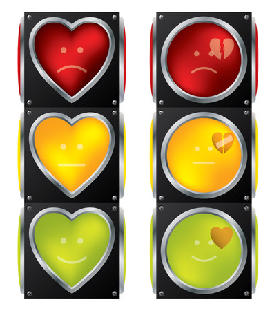Love traffic lights Vector