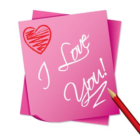 sticky note: Sticky note with message