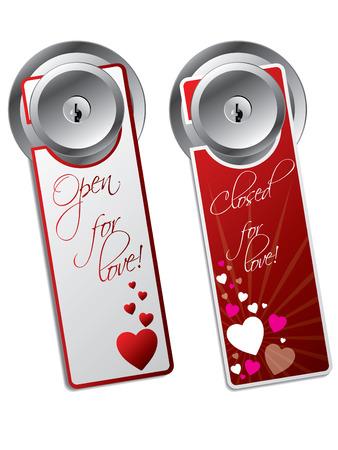 Valentine day door hangers Stock Vector - 8772703