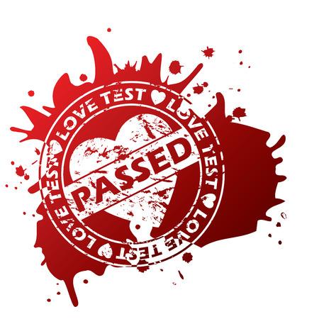 Grunge love stamp with splash Vector