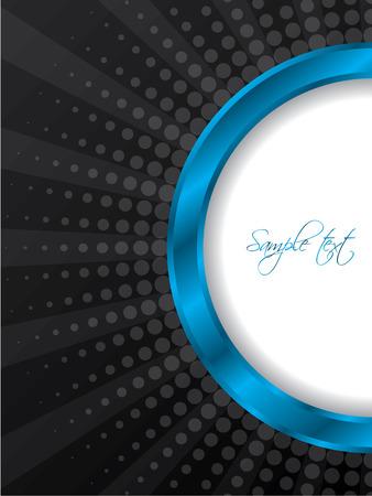 page design: Bursting blue ring brochure design
