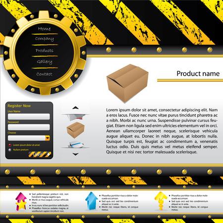 Construction design web template Stock Vector - 8895800