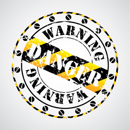 Cool warning seal Stock Vector - 8895803