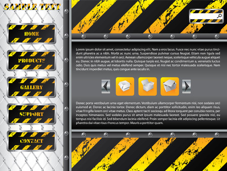 steel bar: Wire fence website template design