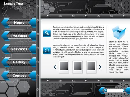 Technology web template design Stock Vector - 8895809