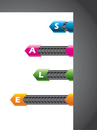 Technology elements on paper corner Stock Vector - 8923068