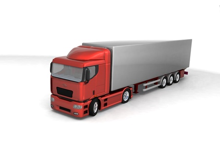 Isolated 3d truck  photo