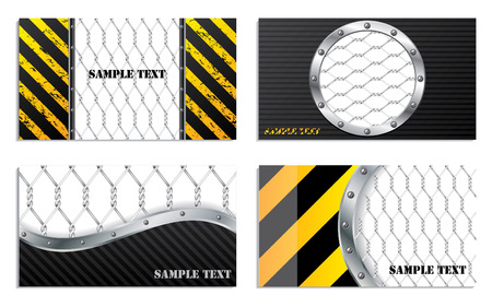 wire fence: Wired business card designs Illustration