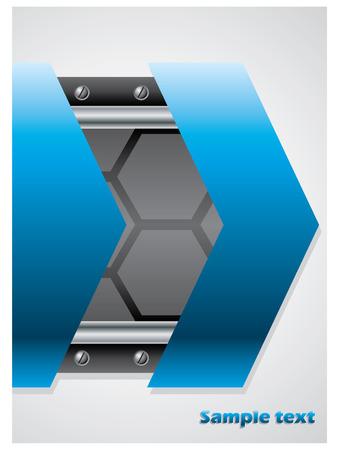 Technology brochure design Stock Vector - 9034232