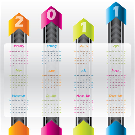 Technology calendar for 2011 Stock Vector - 9034236