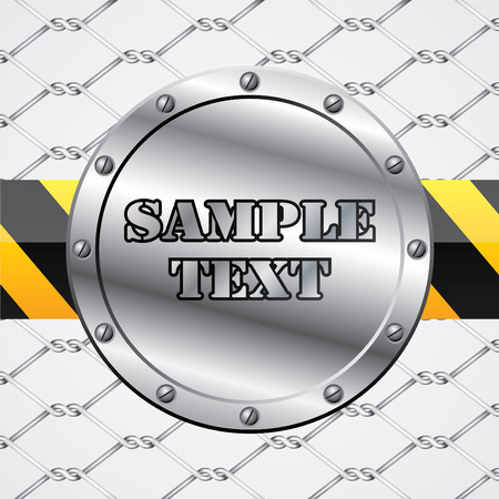 Industrial background design with text Stock Vector - 9034234