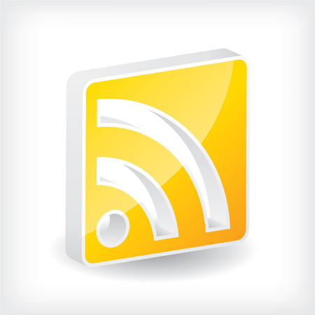 blogged: 3d rss icon design with shadow