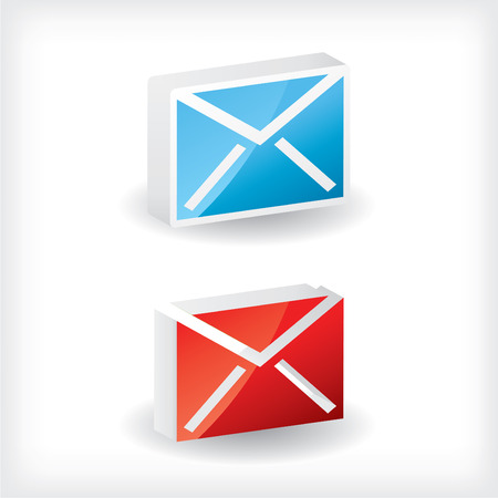 glossiness: 3d email icons Illustration