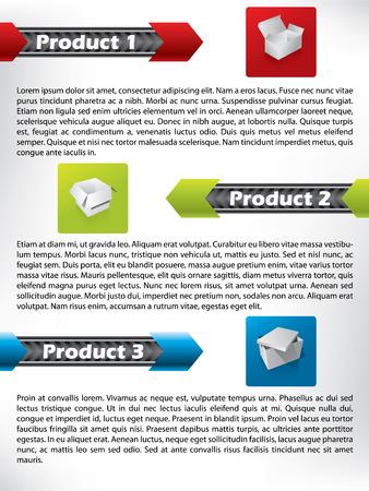 Product presentation Stock Vector - 9114838