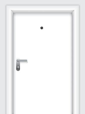 doorframe: Puerta con asa, bloqueo y visor