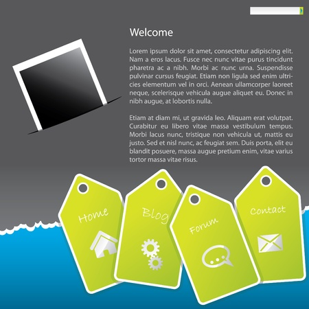 Cool looking website template design Vector