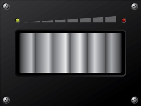 Volume control design with min and max leds Stock Vector - 9239352