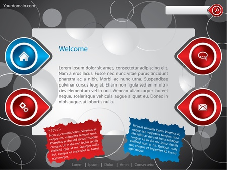 Personal websiteblog template Vector
