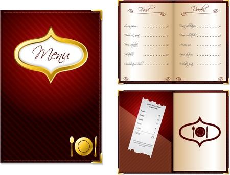 facture restaurant: Conception du menu ouvert et ferm� pour les restaurants