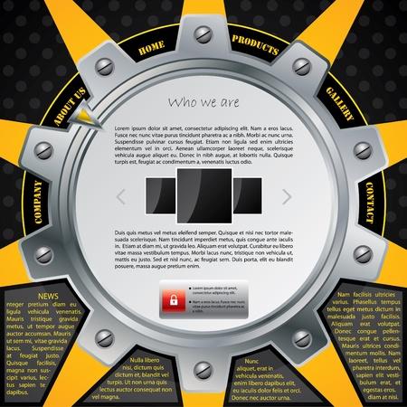 New cogwheel website template design Stock Vector - 9453067