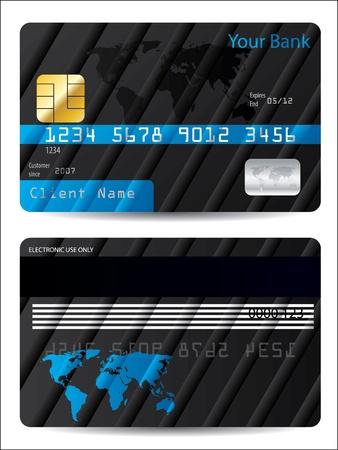 atm card: Dise�o de tarjeta de Banco seccionado con el mapa mundial