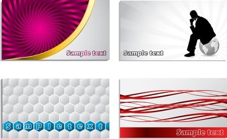 Various business car design set Vector