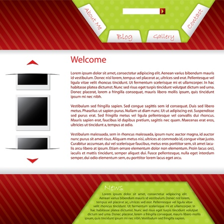 Webpage design for your blog site Stock Vector - 9837771