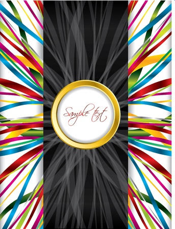 Brochure background design with ribbons Vector