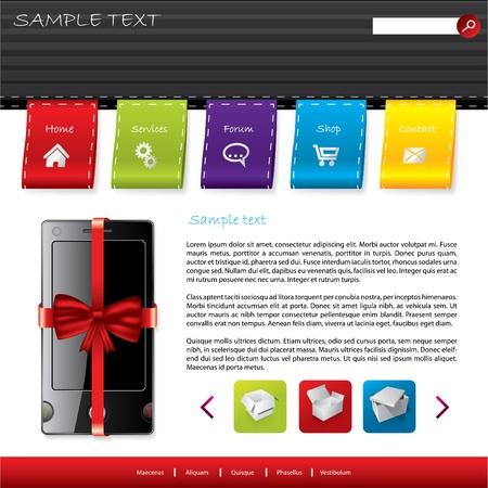 advertisment: Gift shop website template design