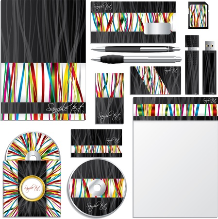 Business vector set with ribbon design Vector