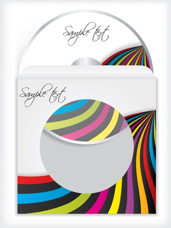 Cd and sleeve color design Vector