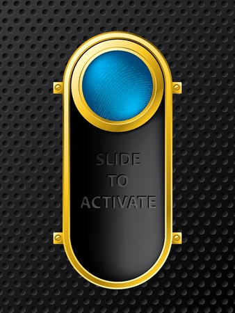 activate: Slide to activate function background design Illustration