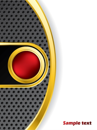 colorful slide: Abstract backdrop with golden red button