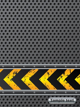 Industrial background design with warning stripe Illustration