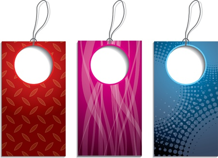 New set of abstract design  label set Stock Vector - 10697033