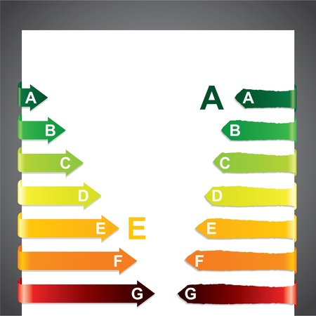 Colorful energy class chart  with arrow shaped bars Stock Vector - 10848895