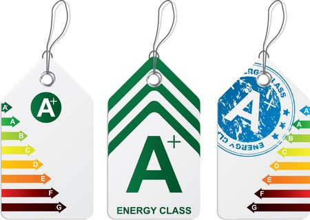 Label set with energy class  A plus  Stock Vector - 10848894