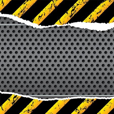 ecartel�: La conception d'arri�re-plan industriel avec du papier ray� et d�chir�