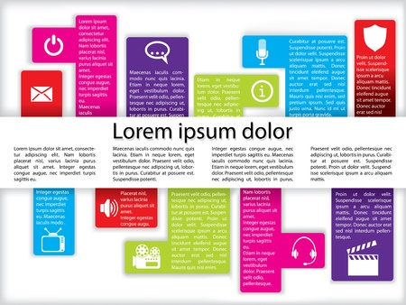 infochart: Info graphics with various media icon set