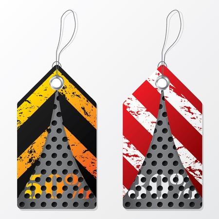 industrial design: Cool industrial design label set of two