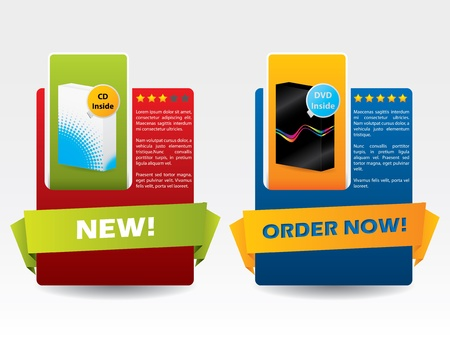 advertising material: Advertising material for boxed products with user rating