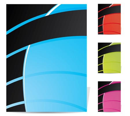 Abstract brochure design set for various purposes Vector