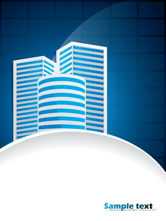 Abstract business brochure design with corporate buildings Illustration